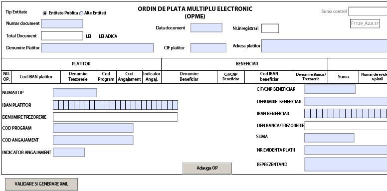 Instructiuni pentru completarea ordinului de plata multiplu electronic ( Informare ANAF)
