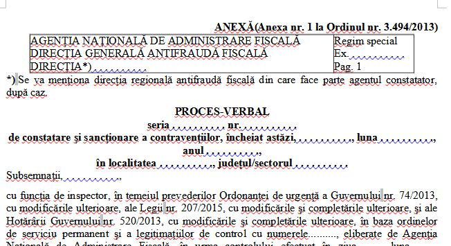 A fost publicat noul model al formularului tipizat Proces-verbal de constatare si sanctionare a contraventiilor (Ordinul 722/2021)