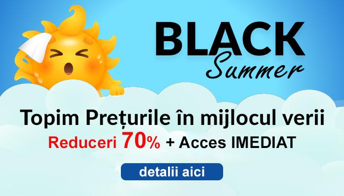 BLACK SUMMER a inceput la R&S! Reduceri de pana la 70% + transport GRATUIT pentru produsele tale preferate