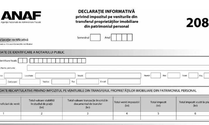Au fost modificate formularele 208, 209 si 253. Cum arata noile documente (Ordinul 1075/2021)