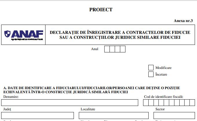 Noua procedura de inregistrare a contractelor de fiducie. ANAF a modificat si formularele necesare contribuabililor