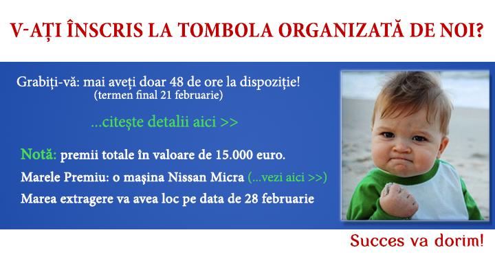 TOMBOLA RS: Felicitari!