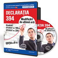 Declaratia 394 -  Ghid practic de completare si depunere