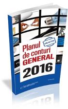 Planul de Conturi GENERAL 2016, in format tiparit