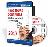 Proceduri contabile pentru societati comerciale 2017